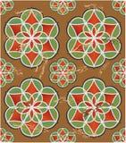 Kolorowa płytka z geometrycznym bezszwowym ornamentem Zdjęcie Stock