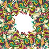 Kolorowa Paisley rama Zdjęcia Royalty Free