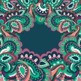 Kolorowa Paisley rama Zdjęcie Stock