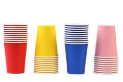 Kolorowa papierowa filiżanka. zdjęcie royalty free