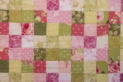 Kolorowa patchwork kołderka Fotografia Stock