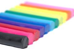 Kolorowa plasteliny glina odizolowywająca Obrazy Stock