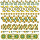 Kolorowa podstrzyżenie kolekcja z sercami, kwiatami i kropkami, Zdjęcia Stock