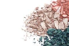 Kolorowa prochowa oko cienia tekstura na białym tle Zdjęcia Stock