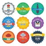 Kolorowa projekt kolekcja dzień szczęśliwego ojcze Fotografia Royalty Free