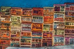 Kolorowa projekta rysunku ulicy ściany Soho centrala Hong Kong obraz royalty free