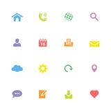Kolorowa prosta płaska ikona ustawia 1 Zdjęcia Stock