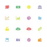 Kolorowa prosta płaska ikona ustawia 4 Obraz Royalty Free
