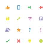 Kolorowa prosta płaska ikona ustawia 2 Zdjęcie Royalty Free