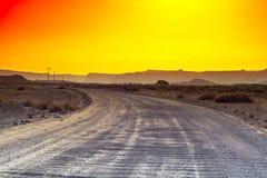 Kolorowa pustynia w Izrael Zdjęcia Stock