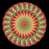 Kolorowa różyczka w art deco stylu z gradientowymi elementami Fotografia Royalty Free