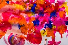Kolorowa ręka malujący tło royalty ilustracja