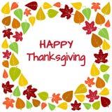 Kolorowa rama i tło jesień liście dla Szczęśliwego dziękczynienia wektor ilustracja wektor