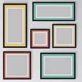 Kolorowa rama na ścianie ilustracja wektor