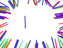 kolorowa rama od lizaków kijów Obrazy Stock
