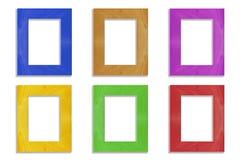 Kolorowa rama odizolowywająca na białym tle Zdjęcia Stock