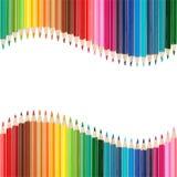 Kolorowa rama robić kolorowi ołówki Fotografia Royalty Free