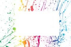 kolorowa ramowa farba Zdjęcie Royalty Free