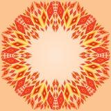 Kolorowa rhombus ornamentu rama ilustracja wektor
