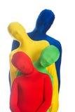 kolorowa rodzina cztery Obrazy Stock