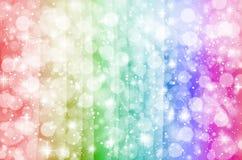 Kolorowa rozjarzona fantazja z bokeh gwiazdą Obraz Royalty Free