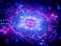 Kolorowa rozjarzona nowa technologia Zdjęcie Royalty Free