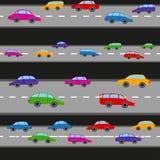 Kolorowa samochodu wzoru wektoru ilustracja Zdjęcie Stock