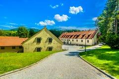 Kolorowa sceneria w Zagorje regionie, Północny Chorwacja Obraz Stock