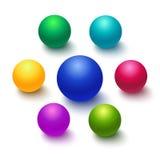 Kolorowa sfera lub piłka odizolowywający Zdjęcia Stock