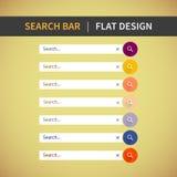 Kolorowa sieć Ustawiająca rewizja bar dla strony internetowej, wisząca ozdoba app Fotografia Royalty Free