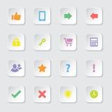 Kolorowa sieci ikona ustawia 2 Obraz Stock