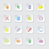 Kolorowa sieci ikona ustawia 3 Zdjęcia Royalty Free