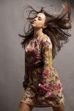 kolorowa smokingowa dziewczyna Zdjęcia Royalty Free