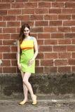 kolorowa smokingowa jest ubranym kobieta Fotografia Stock