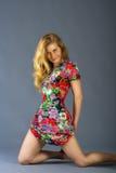 kolorowa smokingowa kobieta Obraz Royalty Free
