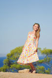 kolorowa smokingowa kobieta Zdjęcia Royalty Free