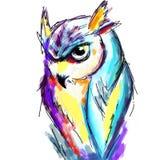 Kolorowa sowa Obrazy Royalty Free