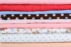 kolorowa stack tkaniny Obraz Royalty Free
