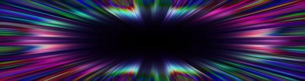 Kolorowa starburst wybuchu granica ilustracja wektor