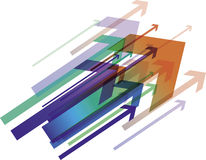 kolorowa strzała ilustracja ilustracja wektor