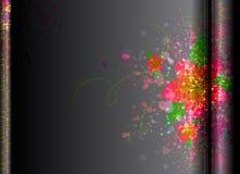 Kolorowa szczotkarska tekstura na czarnym Wektorowym tle Fotografia Royalty Free