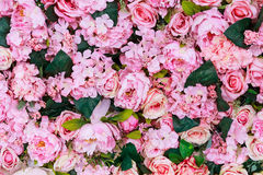 Kolorowa sztucznych kwiatów tekstura, tło Obraz Royalty Free