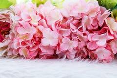Kolorowa sztucznych kwiatów tekstura, tło Obraz Stock