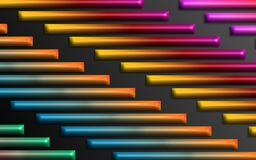 Kolorowa tęcza zakazuje tło - Abstrakcjonistyczni dimensional kształty tapetowi ilustracja wektor
