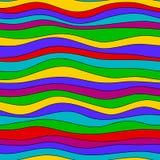 Kolorowa tęczy fala tekstura, bezszwowy wektoru wzór dla tkaniny, tła, tapety, opakunkowy papier i inny, homoseksualista Zdjęcie Royalty Free