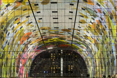 Kolorowa targowa sala, Rotterdam Obrazy Royalty Free