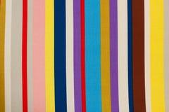 Kolorowa tkanina paskuje teksturę zdjęcia stock