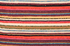 kolorowa tkanina wykładająca tekstura Zdjęcie Stock