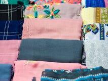Kolorowa tkaniny lub szalika tekstura Zdjęcie Royalty Free