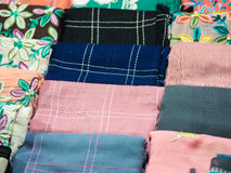 Kolorowa tkaniny lub szalika tekstura Fotografia Royalty Free